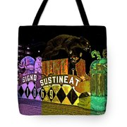 Infant Mystics Emblem In Mardi Gras Colors Tote Bag