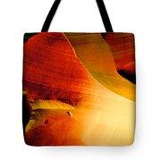 Inferno In Lower Antelope Canyon-az Tote Bag