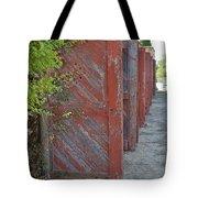 Infinite Red Doors Tote Bag
