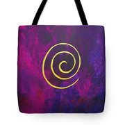 Infinity - Deep Purple With Gold Tote Bag