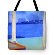 Infinity Pool At Twilight Tote Bag