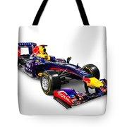 Infinity Red Bull Rb9 Formula 1 Race Car Tote Bag