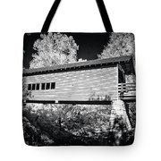 Infrared Covered Bridge Tote Bag
