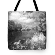 Infrared Mill Pond Tote Bag