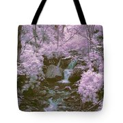 Infrared Mountain Stream Tote Bag