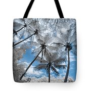 Infrared Palm Trees On The Coast Tote Bag