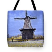 Infrared Photo Of The Dezwaan Dutch Windmill On Windmill Island In Holland Michigan Tote Bag