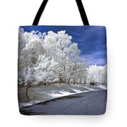 Infrared Road Tote Bag by Anthony Sacco