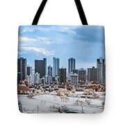 Infrared Sunset Over Honolulu Tote Bag
