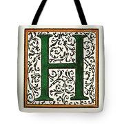 Initial 'h', C1600 Tote Bag