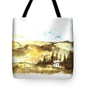 Ink Landscape Tote Bag