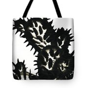 Ink Painting Of Opuntia Cactus Tote Bag
