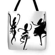 Ink Painting With Abstract Dancers  Tote Bag