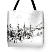 Ink Sketch Tote Bag