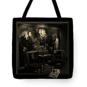 Inked In Forked Tongue Tote Bag