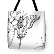 Inked Swallowtail Tote Bag