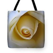 Innocence White Rose 5 Tote Bag