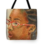 Inquisitive Girl Tote Bag