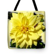 Insect On A Dahlia Tote Bag