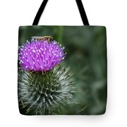 Insect On A Thistle Tote Bag