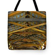 Inside A Covered Bridge 3 Tote Bag