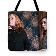 Inside A House, Two Women Stand Looking Tote Bag