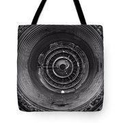 Inside A Jet Engine Black And White Tote Bag