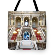 Inside Of National Museum In Prague Tote Bag