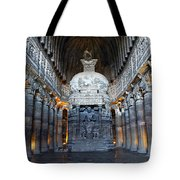 Inside One Of The Ajanta Caves Tote Bag