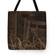 Inside The Barn In Sepia Tote Bag