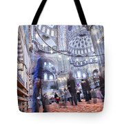 Inside The Blue Mosque Tote Bag