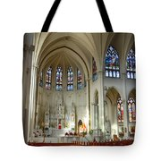 Inside The Cathedral Basilica Of The Immaculate Conception 1 Tote Bag