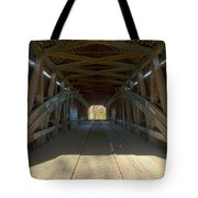 Inside The Cox Ford Covered Bridge Tote Bag
