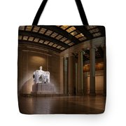 Inside The Lincoln Memorial Tote Bag