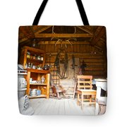 Inside The Real Sam Mcgee's Cabin In Macbride Museum In Whitehorse-yk Tote Bag