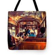 Inside The St. Charles Ave Streetcar New Orleans Tote Bag