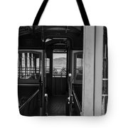 Inside Trolley 28 Black And White Tote Bag