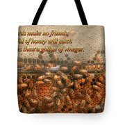 Inspiration - Apiary - Bee's - Sweet Success - Ben Franklin Tote Bag by Mike Savad