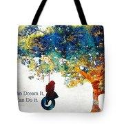 Inspirational Art - You Can Do It - Sharon Cummings Tote Bag