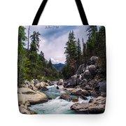 Inspirational Bible Scripture Emerald Flowing River Fine Art Original Photography Tote Bag