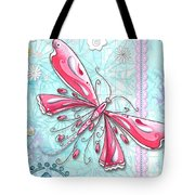 Inspirational Dragonfly Floral Fleur De Lis Art Sweet Charity By Megan Duncanson Tote Bag