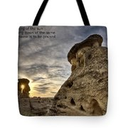 Inspirational Hoodoo Badlands Alberta Canada Tote Bag