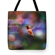 Inspirational Hummingbird Tote Bag