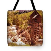 Inspirational Mill Tote Bag