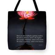 Inspirational - Reflection - Confucius Tote Bag by Mike Savad