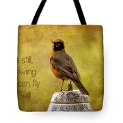 Inspirational Robin Tote Bag