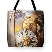Inspirational - Time - A Look Back In Time - Da Vinci Tote Bag