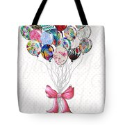 Inspirational Uplifting Floral Balloon Art A Bouquet Of Balloons Just For You By Megan Duncanson Tote Bag