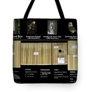 Instructions Cedar Nest Box For Kestrel And Owl Tote Bag