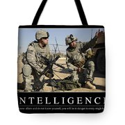 Intelligence Inspirational Quote Tote Bag